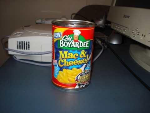 canned mac & cheese