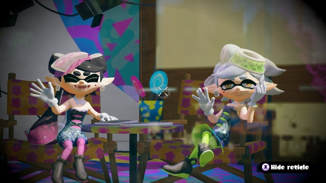 Splatoon Screenshot Squid Sisters Waving