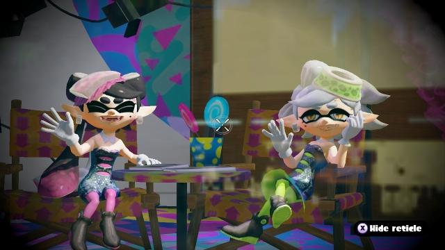 Splatoon Screenshot Squid Sisters Waving